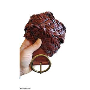 Ann Taylor Loft braided leather belt M